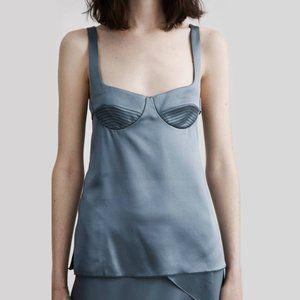 Dion Lee corset bustier silk tank blouse top